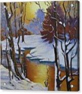 Winter Gold Acrylic Print