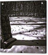 Winter Grave Acrylic Print