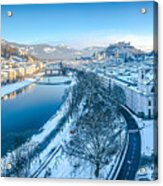 Winter Greetings From Salzburg Acrylic Print