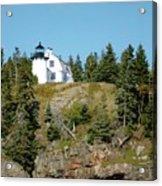 Winter Harbor Lighthouse Acrylic Print
