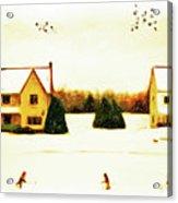 Winter Hockey Acrylic Print