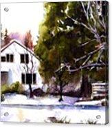 Winter Homestead Acrylic Print