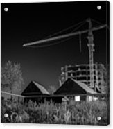 Winter Homes The Crane And The Great Plough Acrylic Print