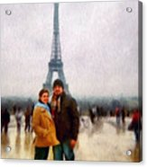 Winter Honeymoon In Paris Acrylic Print