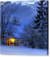 Winter House Acrylic Print