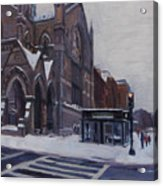 Winter In Boston Acrylic Print