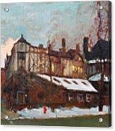 Winter In Buffalo Acrylic Print