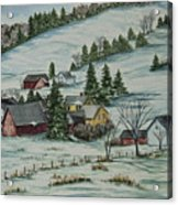 Winter In East Chatham Vermont Acrylic Print