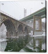 Winter In East Falls Along The Schuylkill River Acrylic Print