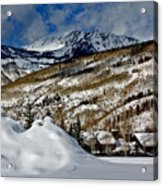 Winter In East Vail Acrylic Print