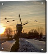 Winter In Holland-2 Acrylic Print