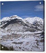 Winter In Silverton Colorado Acrylic Print