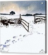 Winter In Stainland Acrylic Print