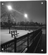 Winter In The Park Acrylic Print