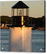Winter Island Lighthouse At Sunset, Salem, Massachusetts Acrylic Print