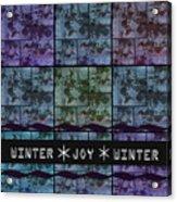Winter Joy Acrylic Print