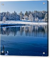 Winter Lake Scene 2 Acrylic Print
