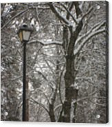Winter Lamp Post Acrylic Print