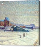 Winter Landscape 1885 Acrylic Print