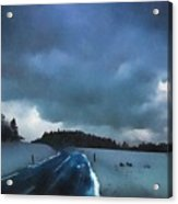 winter landscape at Dusk Acrylic Print