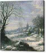 Winter Landscape Acrylic Print by Daniel van Heil