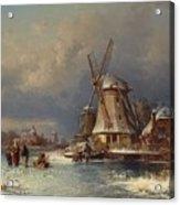 Winter Landscape With Mills Zaardam Acrylic Print