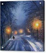Winter lights Acrylic Print