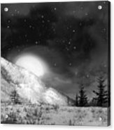 Winter Magic In Black And White Acrylic Print