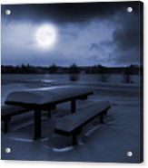Winter Moonlight Acrylic Print by Jaroslaw Grudzinski
