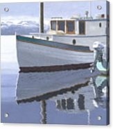 Winter Moorage Acrylic Print