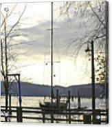 Winter Mooring Acrylic Print