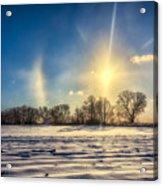 Winter Morn In Minnesota Acrylic Print