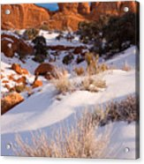 Winter Morning At Arches National Park Acrylic Print