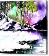 Winter Mountain Acrylic Print