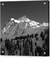 Winter Mountain Monochrome Acrylic Print
