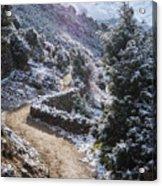 Winter Mountain Path Acrylic Print