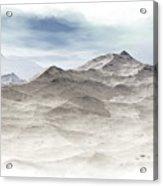 Winter Mountain Peaks Acrylic Print