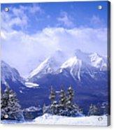 Winter Mountains Acrylic Print