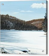 Winter On An Ontario Lake  Acrylic Print