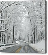 Winter On Buffalo Road Acrylic Print