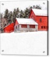 Winter On The Farm Enfield Acrylic Print