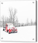 Winter On The Farm Etna New Hampshire Acrylic Print