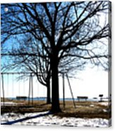 Winter On The Sound Acrylic Print