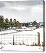 Winter Ontario Farm 3 Acrylic Print