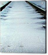 Winter Railroad Tracks Acrylic Print