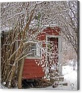 Winter Reading Room Acrylic Print by Kristine Nora