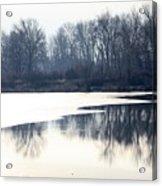 Winter Reflection On The Yakima River Acrylic Print