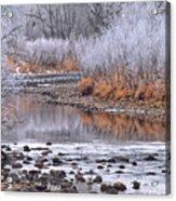 Winter River Acrylic Print by Bruce Gilbert