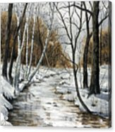 Winter River Acrylic Print