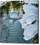Winter River Reflections - Yellowstone Acrylic Print